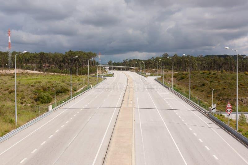 Portugiesische Autobahn lizenzfreies stockbild