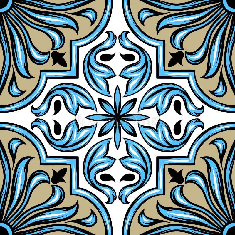 Portugiesisches azulejo Keramikziegel lizenzfreie abbildung