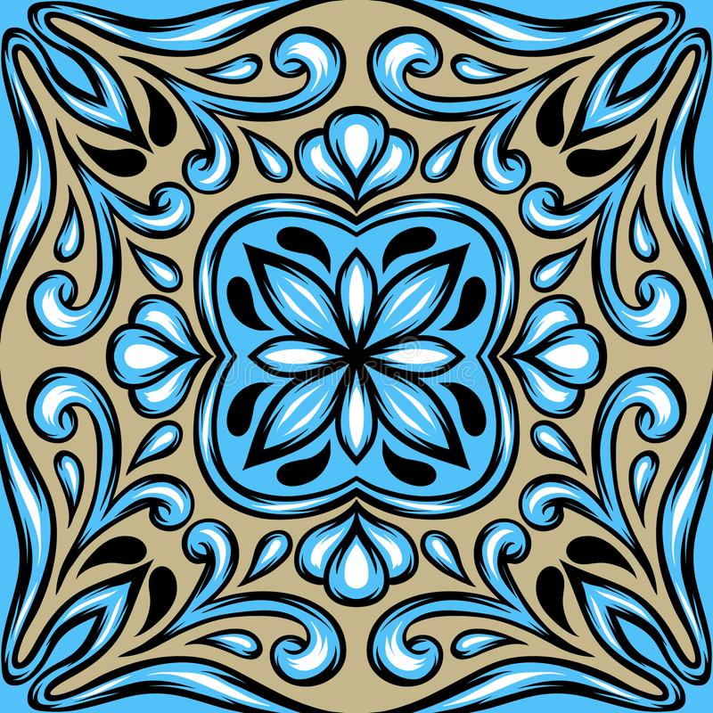 Portugiesisches azulejo Keramikziegel vektor abbildung