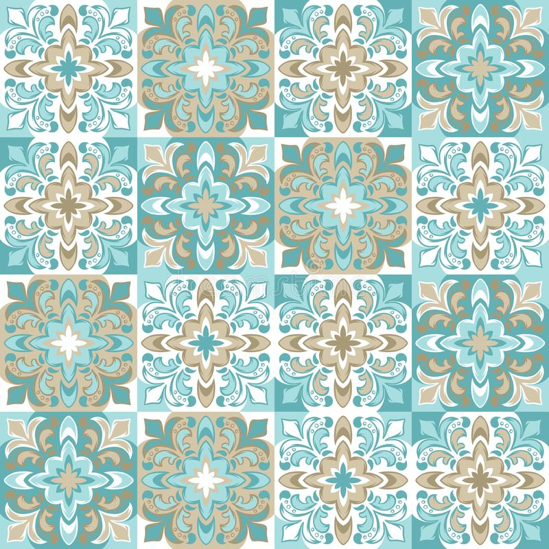 Portugiesisches azulejo Keramikziegelmuster vektor abbildung