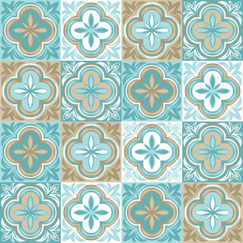Portugiesisches azulejo Keramikziegelmuster lizenzfreie abbildung