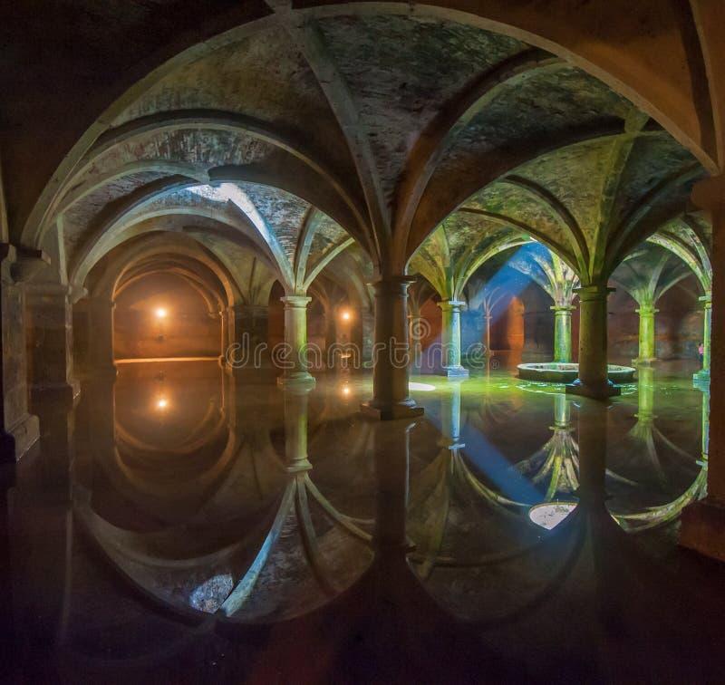 Portugisisk cistern i El Jadida, Marocko fotografering för bildbyråer
