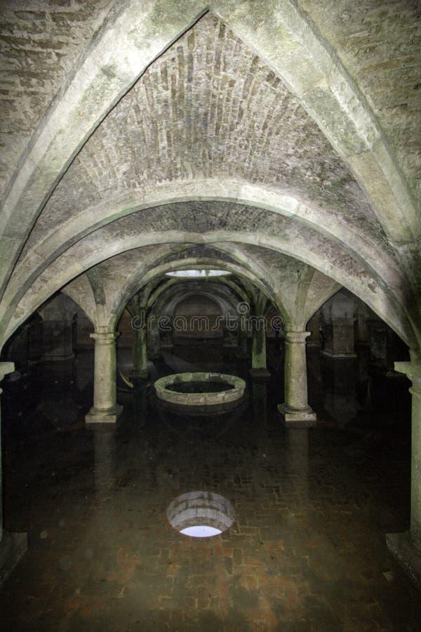 Portugisisk cistern i fästningen av El Jadida, arkivfoton
