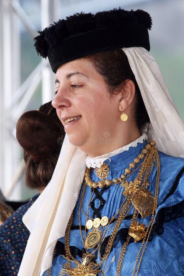 Portugisisk folkloredam royaltyfria bilder