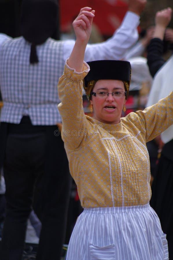 Portugisisk folkloredansare royaltyfria foton