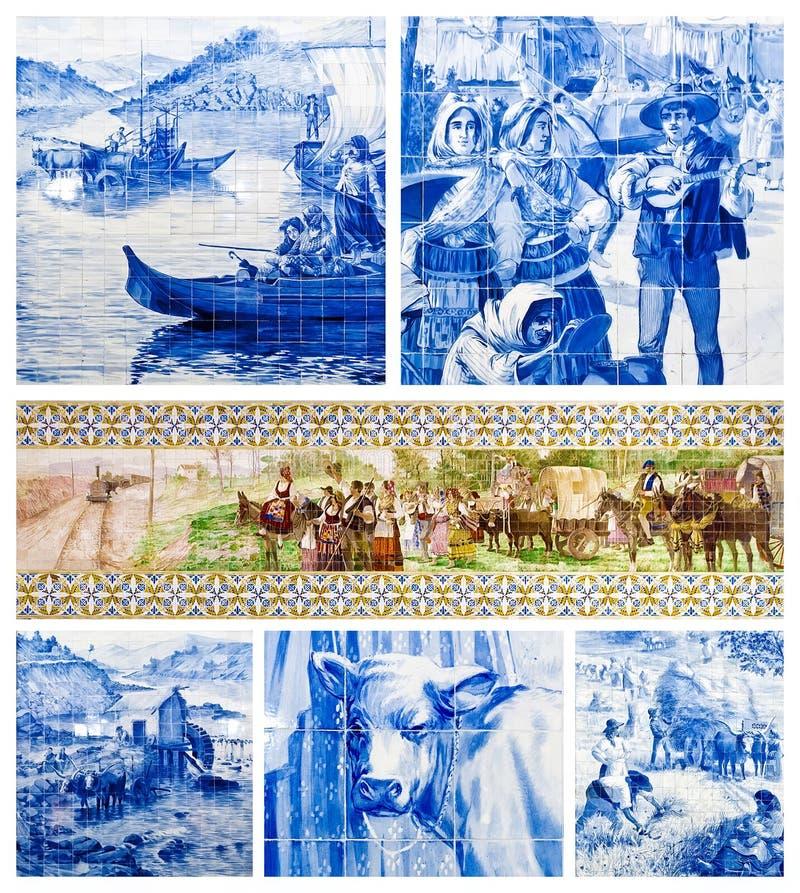 Portugisisk konst belägger med tegel vektor illustrationer