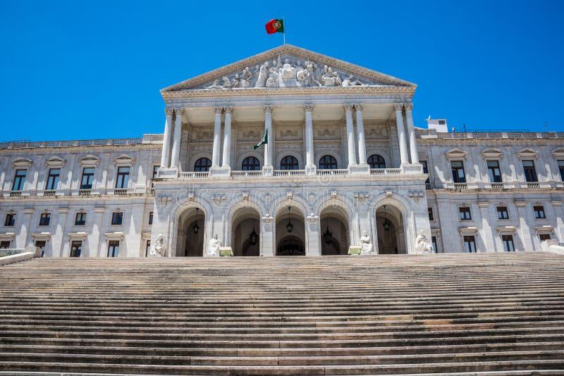 Portugisisk parlament i Lissabon, Portugal royaltyfri bild