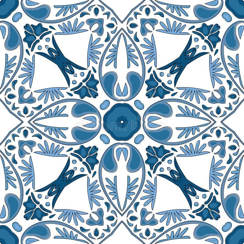 portugisiska tegelplattor vektor illustrationer
