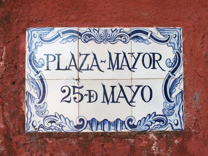 Portugisiskt gatatecken arkivfoto