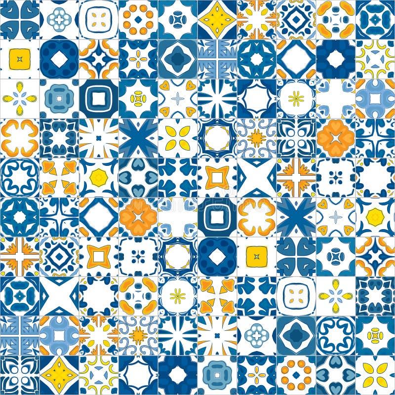 Portugistegelplattor royaltyfri illustrationer