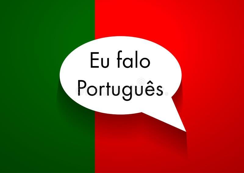 Português falador do sinal do vetor ilustração do vetor