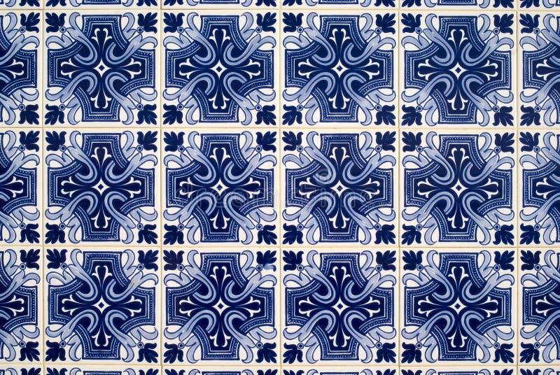 Portuguese azulejos, old tiled background stock photography