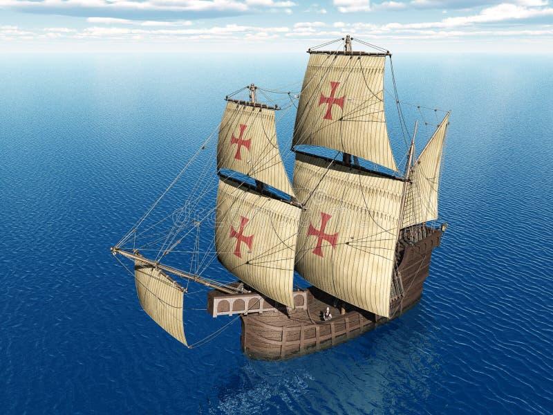 Download Portuguese Caravel stock illustration. Image of blue - 39976811