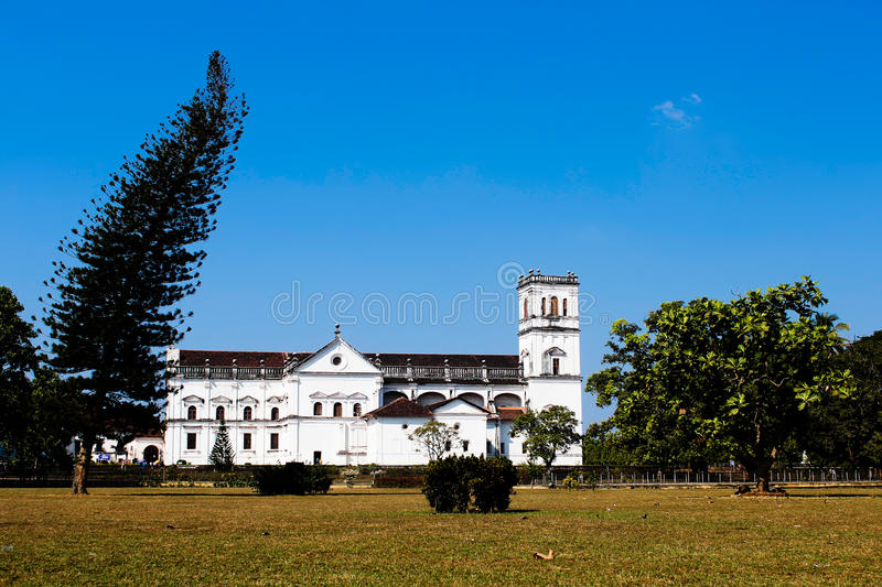 Portuguese catholic cathedral in old goa royalty free stock photos