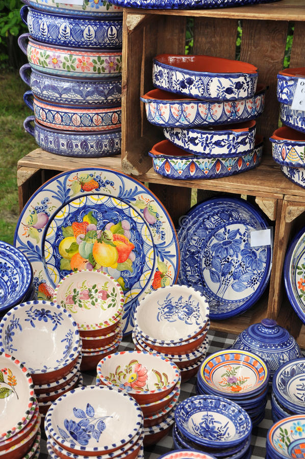 Portuguese ceramics stock photos