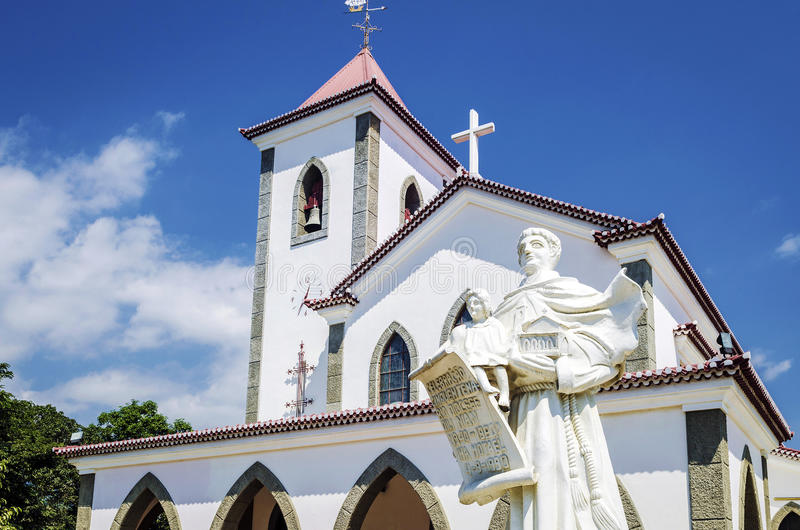 Portuguese christian catholic church landmark in central dili ea stock photo