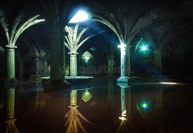 Portuguese Cistern. El Jadida Cistern, Morocco. Ancient European Historical Buildings in Morocco royalty free stock image
