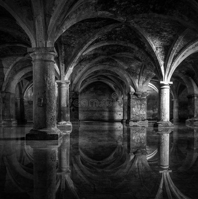 Portuguese Cistern. El Jadida Cistern, Morocco. Ancient European Historical Buildings in Morocco royalty free stock photo
