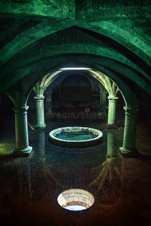 Portuguese Cistern. El Jadida Cistern, Morocco. Ancient European Historical Buildings in Morocco stock photography