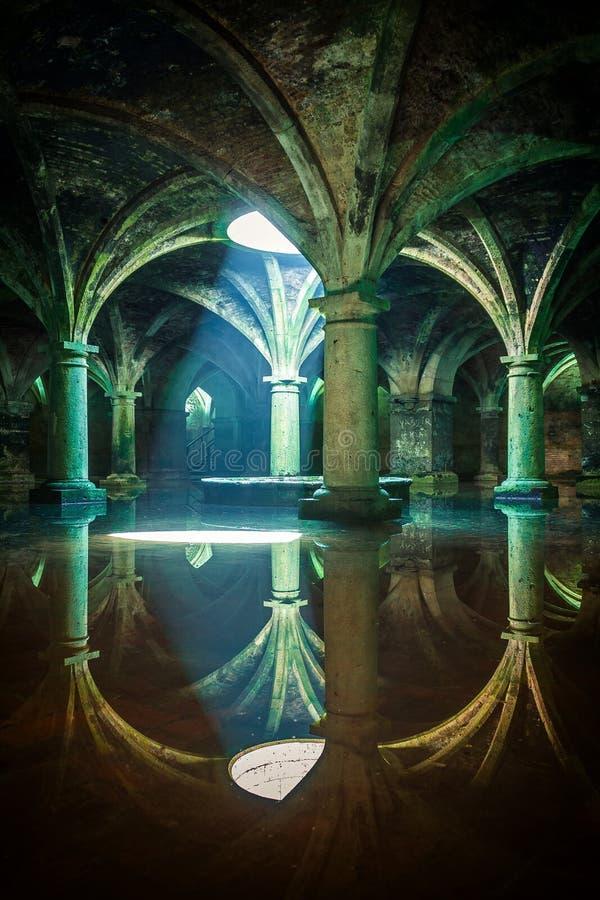 Portuguese Cistern. El Jadida Cistern, Morocco. Ancient European Historical Buildings in Morocco royalty free stock photos