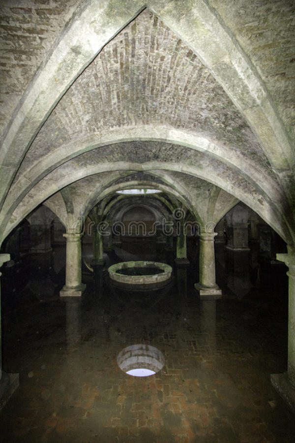 Portuguese cistern in the fortress of El Jadida, stock photos