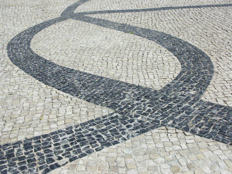 Portuguese cobblestone pavement royalty free stock images