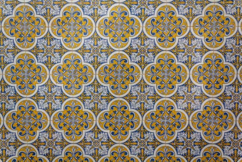 Portuguese tiles background, pattern stock photo