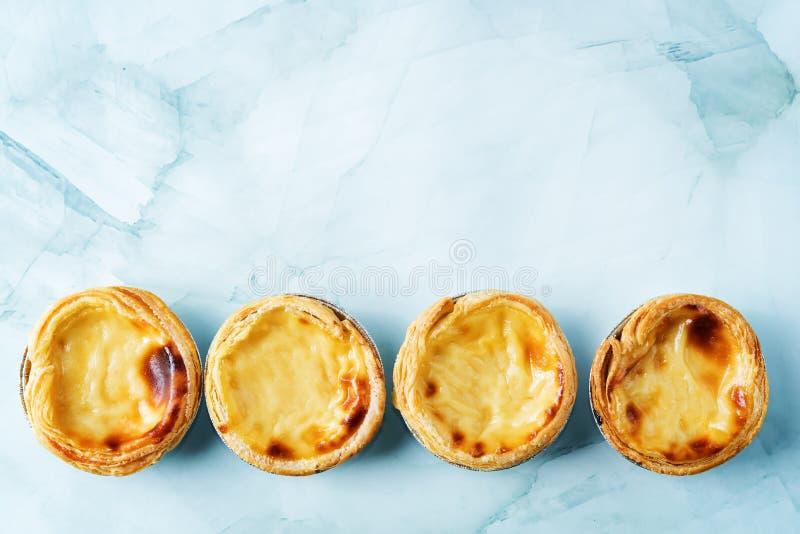 Portuguese custard pies, Pastel de Nata or Pastel de Belem. Traditional portuguese pastry stock image