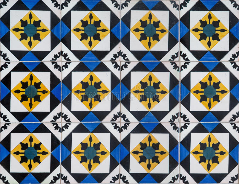 Portuguese decorative tiles azulejos royalty free illustration