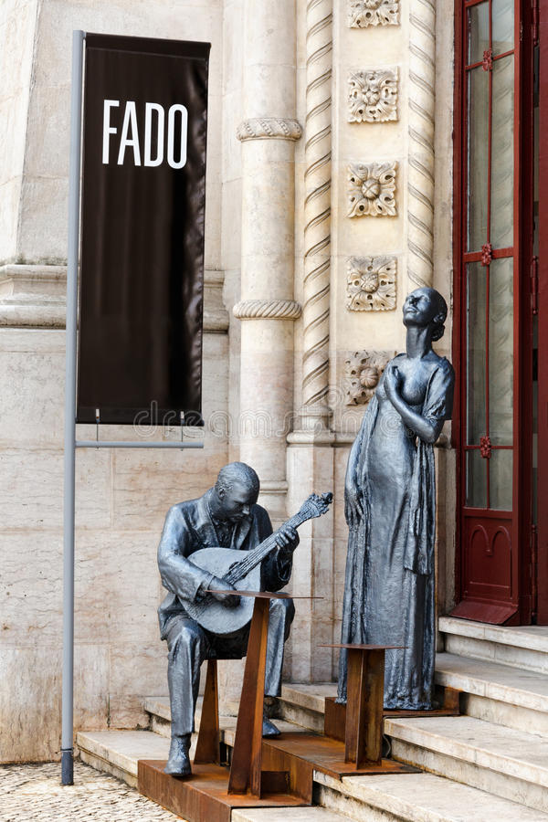 Portuguese fado monument royalty free stock photo