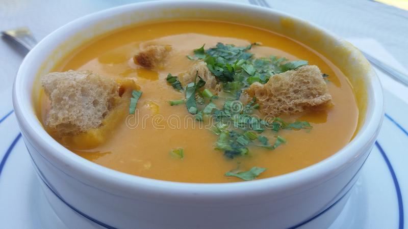 Portuguese fish soup stock photos