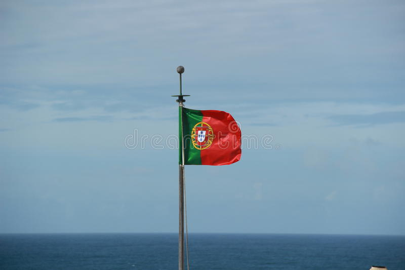 Download Portuguese Flag stock photo. Image of flying, european - 34553326