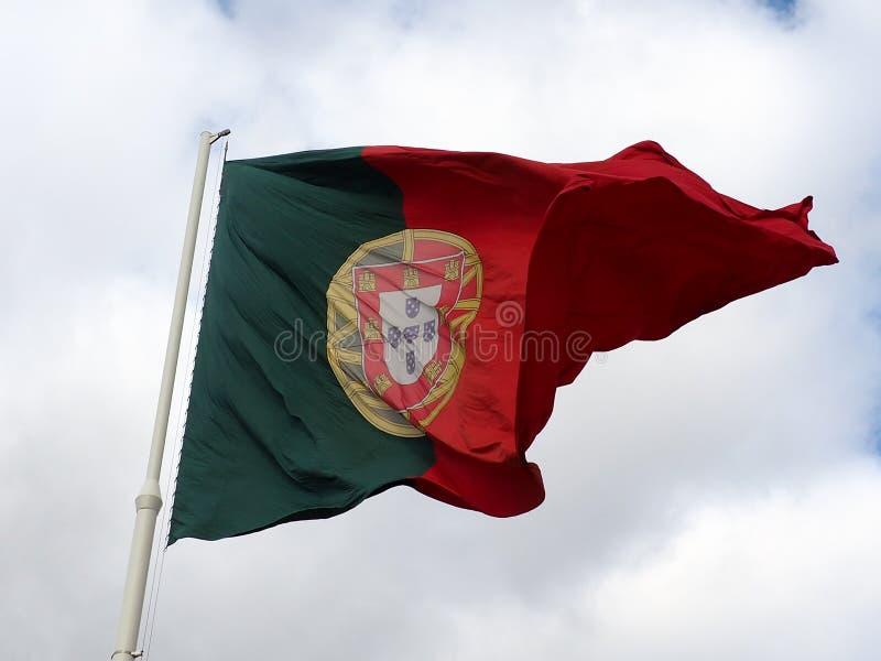 The Portuguese flag royalty free stock photos