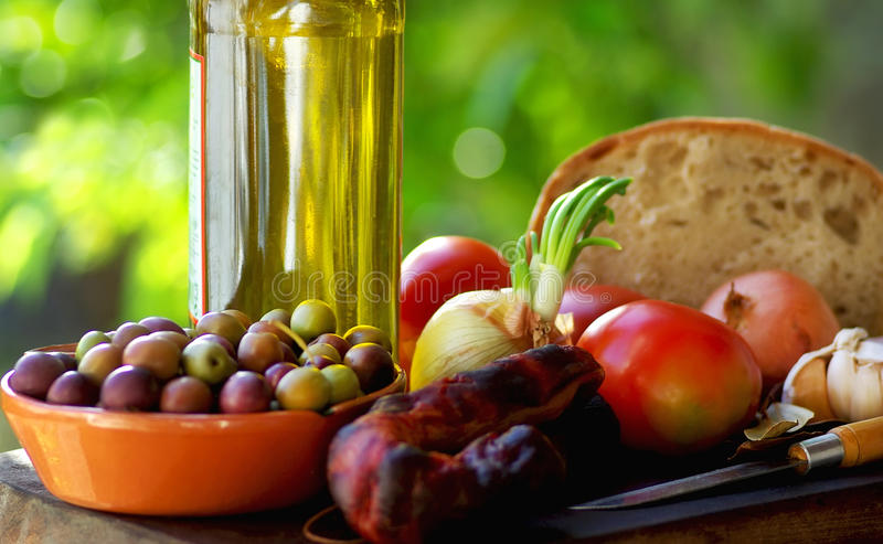 Portuguese food and wine. stock images