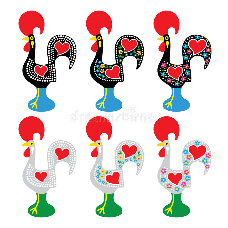 Free Portuguese Rooster Of Barcelos - Galo De Barcelos Icons Stock Photo - 51282810