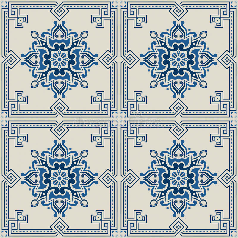 Portuguese tile vector pattern royalty free stock photography