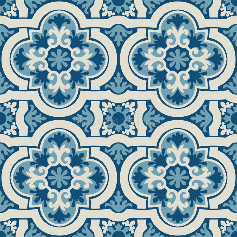 Portuguese tile vector pattern royalty free stock photos
