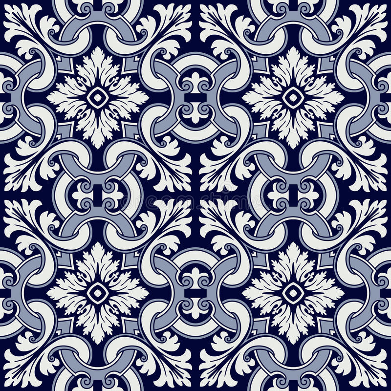 Portuguese tile vector pattern royalty free stock photo