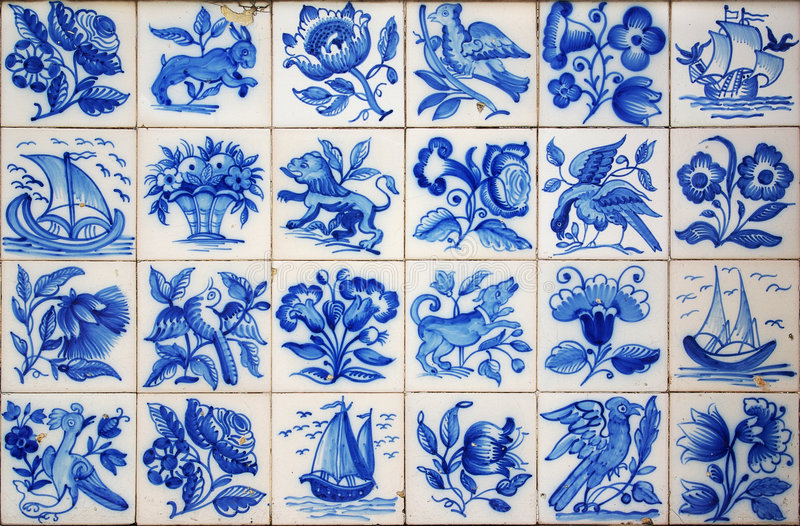 Download Portuguese Tiles stock image. Image of painted, artistic - 7100331