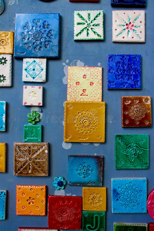 Portuguese tiles in Lisbon royalty free stock image