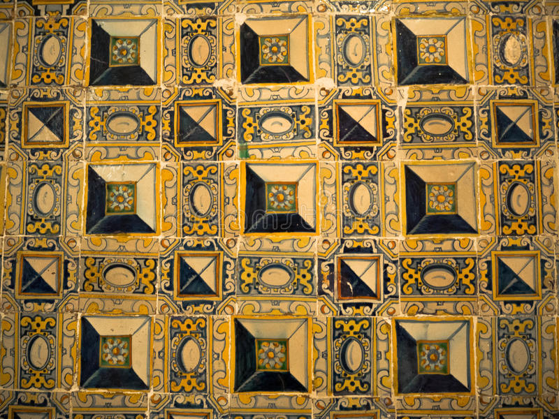 Portuguese tiles at Monastery of St. Vincent Outside the Walls, Lisbon, Portugal stock photos