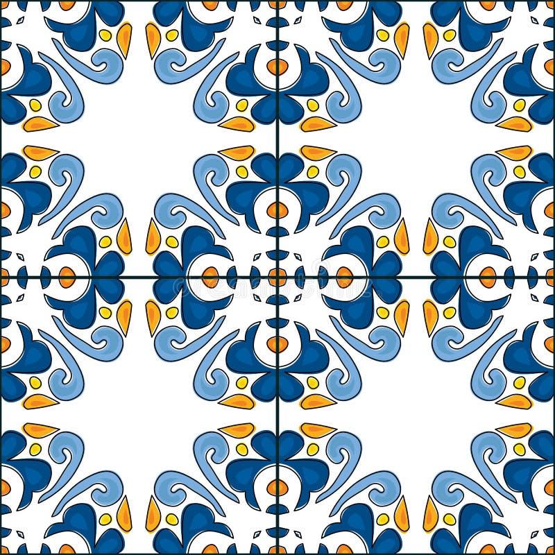 Portuguese tiles vector illustration