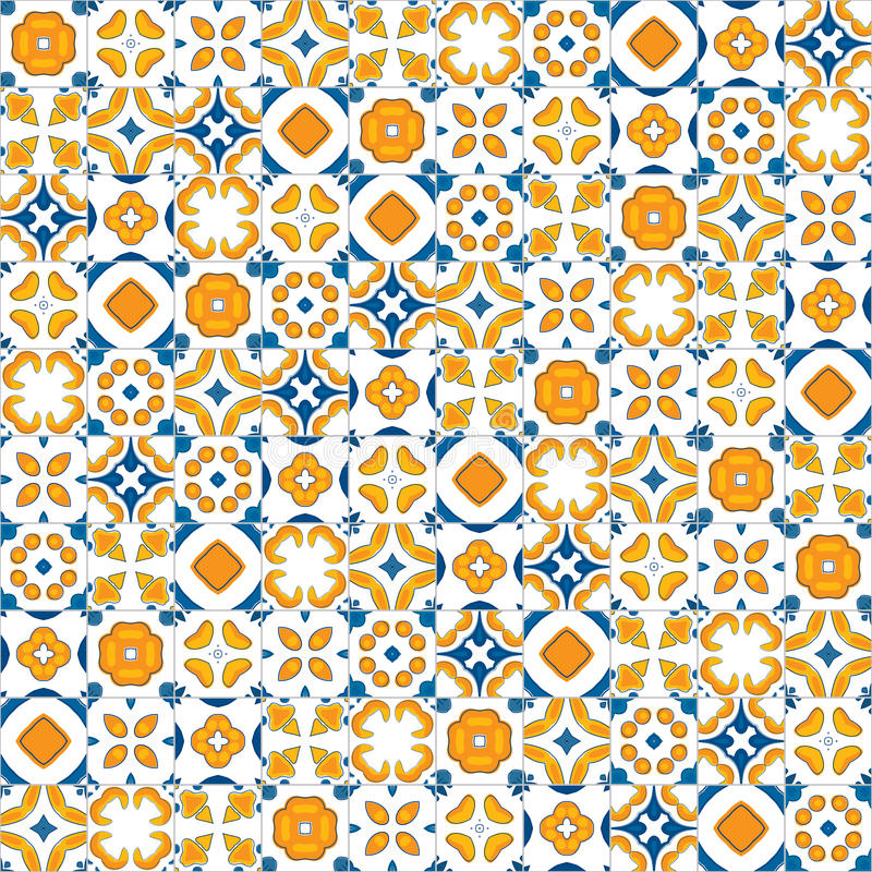 Portuguese tiles vector illustration
