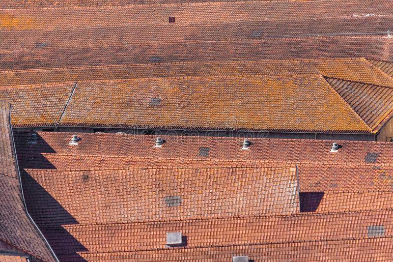 Portuguese traditional red tile roofs in Lisbon, Porto. Portuguese traditional red tile roofs in Lisbon, Porto royalty free stock photos