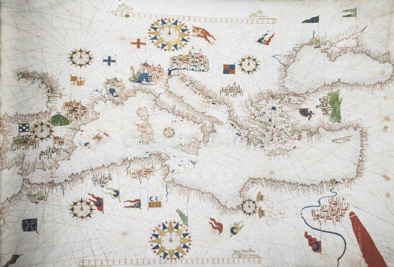 portulan диаграмма 1563 черносливов Mateo стоковая фотография rf