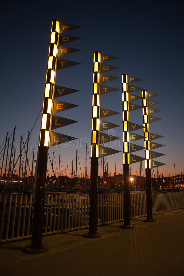 PortVell nachts stockbilder
