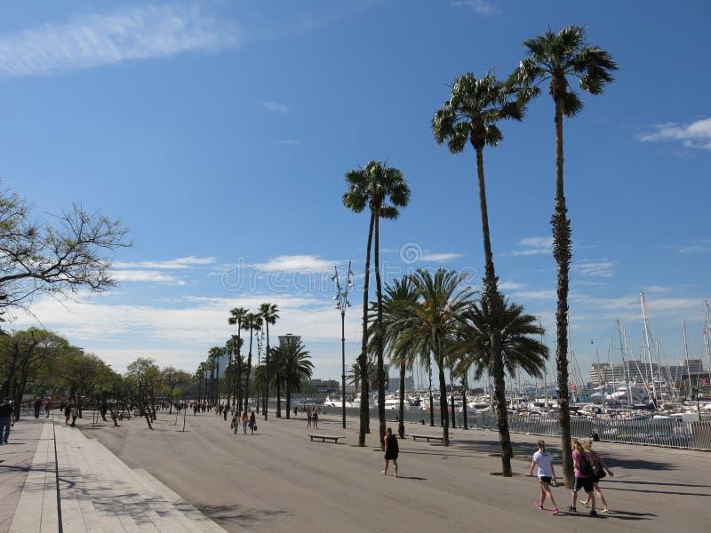PortVell promenad i Barcelona royaltyfria foton