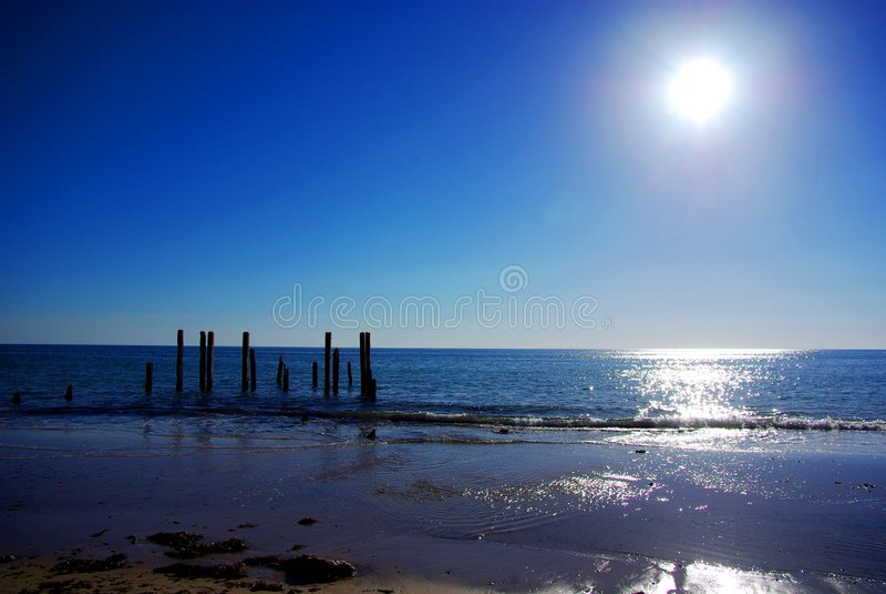 PortWillunga Nachmittag Sun lizenzfreie stockfotografie