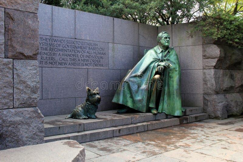 Poruszająca rzeźba i słowa Franklin Delano Roosevelt pomnik, Waszyngton, DC, 2017 zdjęcia royalty free