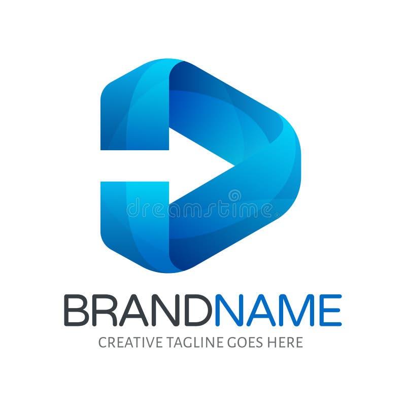 Poruszający logo w wektorowym formacie Naprzód obrazy royalty free
